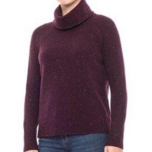 C&C California Plum Speckled Turtleneck Sweater
